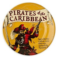 Disney Parks Attraction Poster Plate - Pirates of the Caribbean - 7'' by Disney