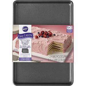 Wilton 2105-5747 2 Piece Easy Layers Sheet Cake Pan Set by Wilton Enterprises