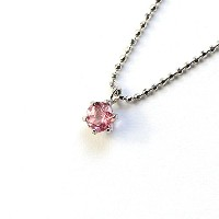 Ejewelry ピンクトルマリン 0.2ct ペンダント ネックレス 10月 誕生石 天然石