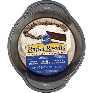 Wilton 2105-6975 Perfect Results Round Cake Pan, 6 x 2 by Wilton Enterprises