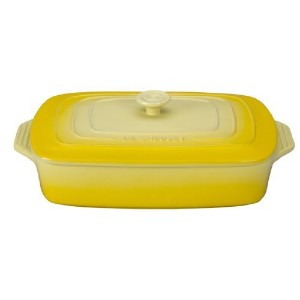 Le Creuset Stoneware Covered Rectangular Casserole, 12.5 by 8.5-Inch, Soleil [並行輸入品]