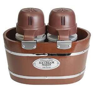 Nostalgia Vintage Collection 4-Quart Double Flavor Electric Ice Cream Maker by Nostaglia
