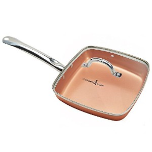 銅シェフSquare Fry Pan with Lid、9.5インチ