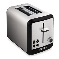KRUPS KH3110 SAVOY Brushed Stainless Steel Toaster with Bagel Function and Wide Slots, 2-Slice,...