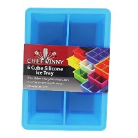 Chef Vinny Classic King Size Ice Cube Tray (6 Cube, Light Blue) by Chef Vinny