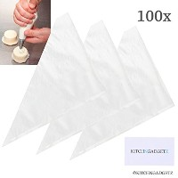 Pastry Decorating Bags - 100 Pieces, Bulk - Large Capacity, 16 Inch - For Fine Decoration of...