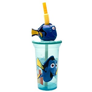 Zak! Designs Travel Tumbler Featuring Finding Dory Graphics With Lid and Straw, BPA-free and Break...