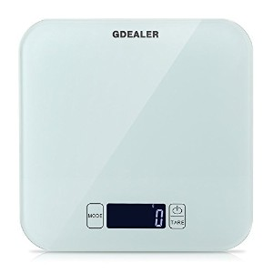 GDEALER Kitchen Scale 22lb/10kg Digital Kitchen Food Scale, Tempered Glass Surface Touch Screen,...