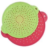3 in 1 Silicone Splatter Screen - Set of Red and Green 9 and 11 Inch Diameters by EternalChefTM