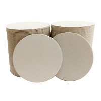 100 4 Round Heavyweight Blank Plain White Paper Coasters for table, DIY Crafts, Zen Tiles Designs...