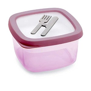 Snips - 1l pink lunch box with rem tray