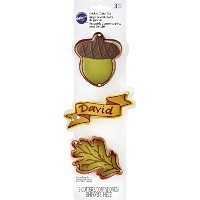 Wilton 3-Piece Fall Cookie Cutter Set by Wilton