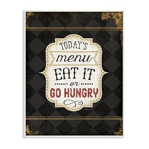Stupell産業TodaysメニューEat It Or Go HungryグラフィックアートWall Plaque レッド kwp-1014