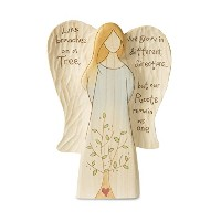 Pavilion Gift Company 78001 Family Tree Angel Figurine, 7-1/2' [並行輸入品]