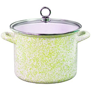 Calypso Basics 78991 Enamel Stock Pot, 8 quart, Lime [並行輸入品]