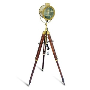 PHOTOGRAPHY DESIGNER FLOOR SEARCHLIGHT SPOTLIGHT WITH HEAVY TRIPOD STAND LAMP by NAUTICALMART