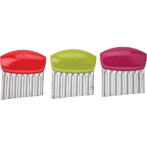 Stainless Steel Crinkle Cutter by Msc - Set of 3 by Joie