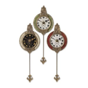 Uttermost Monarch Wall Clock, Set of 3 by Uttermost