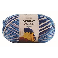 BERNAT Bernat Blanket Brights Big Ball Yarn 毛糸 超極太 ブルー系 300g 約201m