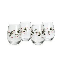 Pfaltzgraff Winterberry Stemless Wine Glasses (Set of 4) [並行輸入品]