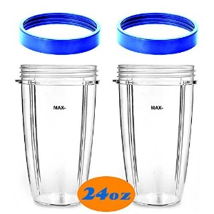 CUP-24oz Cup with Blue Lip Ring for NUTRIBULLET 600W 900W by SUP-Supply Chain