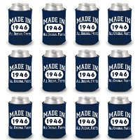 shop4ever ® Made in 1946Can Coolie誕生日ドリンククーラーCoolies ブルー