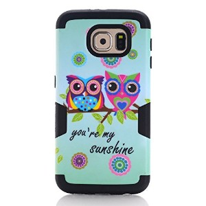 Galaxy S7 Case, SAVYOU Sunshine Owl 3 in 1 Hybrid Shock Absorbing Case with Hybrid Cover Soft...
