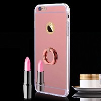 iPhone 7 Mirror Case Rose Gold with stand, Miniko(TM) Mirror Bright Reflection Radiant Luxury...