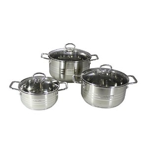 CONCORD 6 Piece Stainless Steel Cookware Set (Induction Compatible) by Concord Cookware