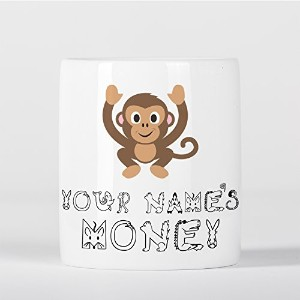Personalised Monkey Cute Animal Zoo Children Customizable 貯金箱
