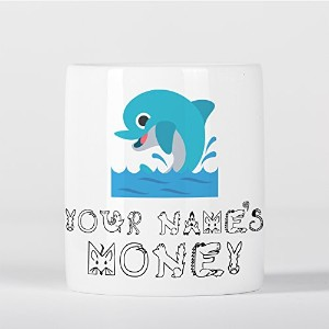 Personalised Dolphin Cute Animal Zoo Sea Children Customizable 貯金箱