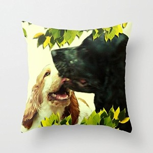 Dogs Cushion Covers 18 X 18 Inches / 45 By 45 Cm Best Choice For Girls,bar,bedroom,son,dining Room...