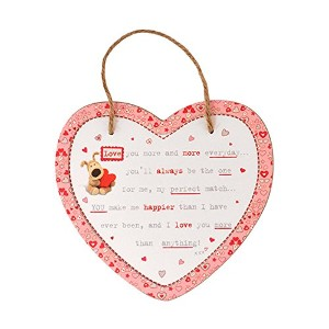 Boofle I Love You木製Hanging Plaque
