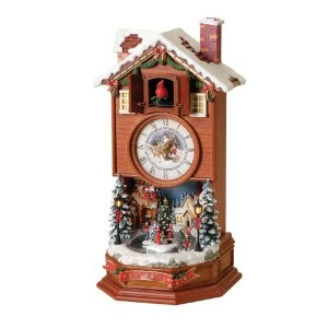 Roman 15.5' Tall Musical Action Lighted Cuckoo Clock [並行輸入品]