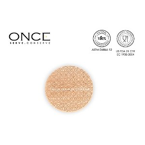 ONCE : Exquisite Single-use Tableware - COASTER WITH DESIGN / ONCE:優れた使い切り食器 - デザインコースター