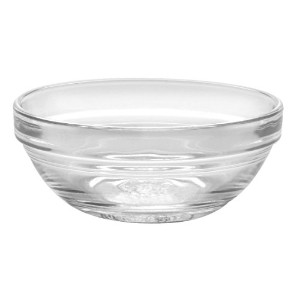 Duralex Made In France Lys Stackable Glass Bowl (Set of 4), 1 oz., 2.3 Inches, Clear [並行輸入品]