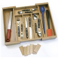 Lipper International 8882 Bamboo Expandable Organizer with Removable Dividers [並行輸入品]