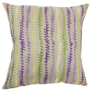 The Pillow Collection Orchid Malu Zigzag Bedding Sham, Queen/20' x 30' [並行輸入品]