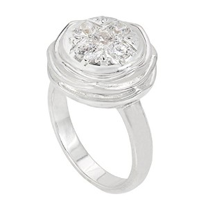 JewelryスターリングシルバーComing Up Rosesリング–kr048–6( JewelPop Not Included )