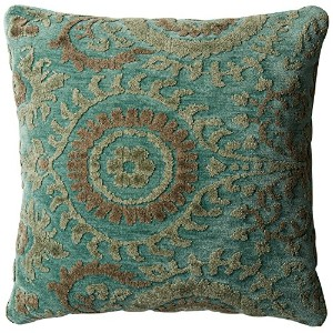 POLY SET Loloi PSETGPI10BBGSPIL3 Blue Grass Decorative Accent Pillow, 22' x 22' [並行輸入品]