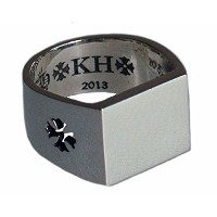 CHROME HEARTS KH RING CH+KH クロムハーツ CH+KH リング