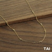 【TAI JEWELRY[タイジュエリー] 】SPREAD OUT CROSS ネックレス ゴールド クロス