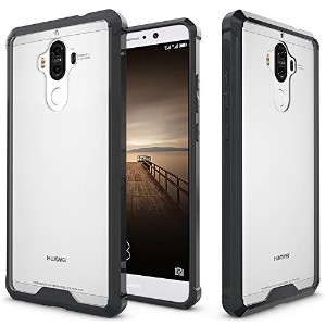 Huawei Mate 9 Case,SOUNDMAE Armor Transparent Clear TPU Frame Shockproof Protective Case Scratch...