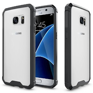 Samsung S7 Case,SOUNDMAE Armor Transparent Clear TPU Frame Shockproof Protective Case Scratch...