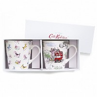 キャスキッドソン(Cath Kidston) Cream S/2 Mini Stanley Mugs Billie Goes To Town ca531726 [並行輸入品]