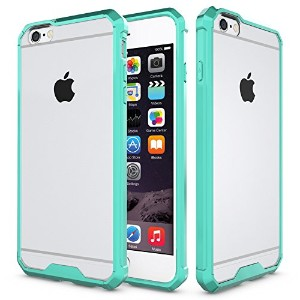 iPhone 6/6s Case,SOUNDMAE Armor Transparent Clear TPU Frame Shockproof Protective Case Scratch...