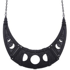 HOLLOW MOON BLACK NECKLACE ムーンフェイズオカルトネックレス ゴシック