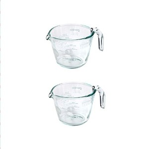 Pyrex 1カップ100100th Anniversary Measuring Cup、ホワイトby Pyrex 2PK ホワイト