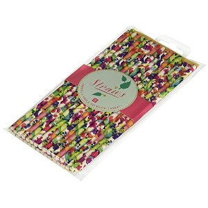 Talking Tables Tropical Party Floral Paper Straws for a Summer Party or Luau, Multicolor (30 Pack)