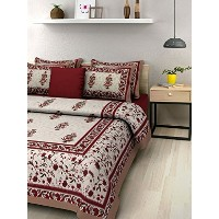 rajasthani cotton double bed Sheet 2 Pillow Covers